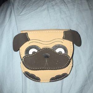 Small pug wallet